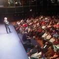 """""""Lluís Llach durant la xerrada 'Instints"""" del diumenge contestant les preguntes del públic"""" Foto: @Instint_tv"""