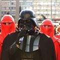 """""""Dark Vader durant un discurs polític a Kiev"""" Foto: web oficial del Partit d'Internet (Ipu.com.ua)"""