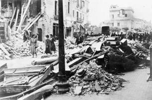 L'aviació italiana va atacar Granollers. (Foto: Winifred Bates)