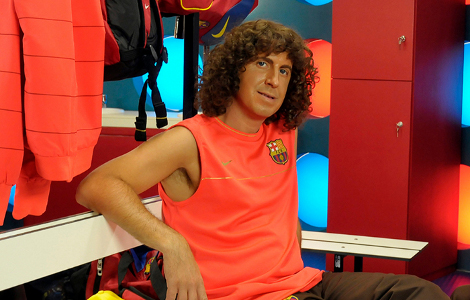 Jordi Rios interpreta el Puyol del Crackòvia. (Foto: TV3)