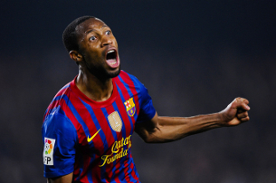 Seydou Keita celebra el seu golàs. (Foto: Gallo / Getty Images)